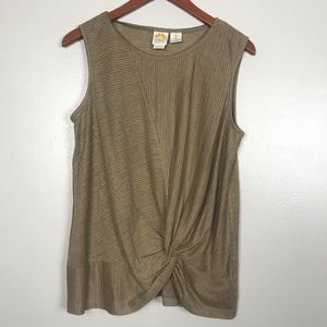 C&C California Linen Tank w/ Twist Detail.